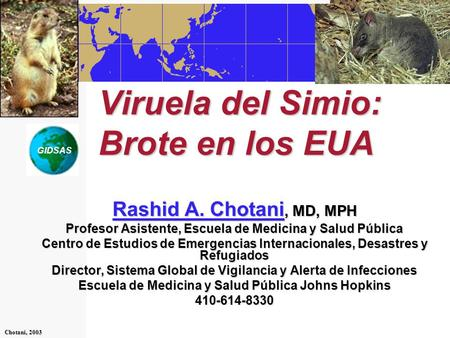 Viruela del Simio: Brote en los EUA