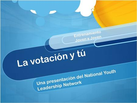 Una presentación del National Youth Leadership Network