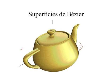 Superficies de Bézier.