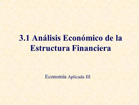 Analisis Estructura Financiera Ejemplo Muestras De Documentos