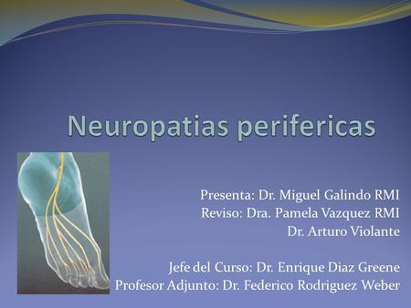 Neuropatias perifericas