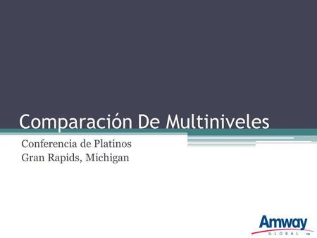 Comparación De Multiniveles