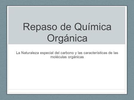 geometria de las moleculas organicas: