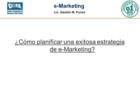 ¿Cómo planificar una exitosa estrategia de e-Marketing?