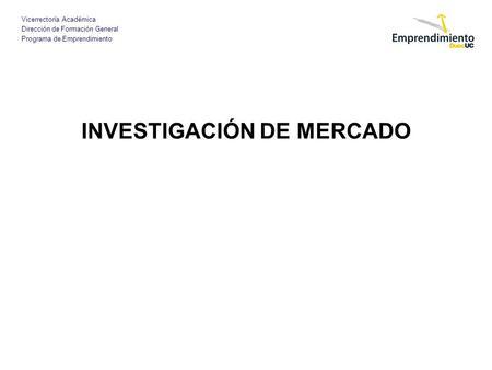 Investigacion de mercados essay