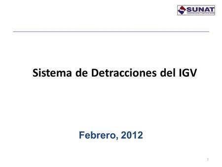 Sistema de Detracciones del IGV 1 Febrero, 2012. BASE LEGAL 2 Decreto Legislativo N° 940 Decreto Legislativo N° 954 Resolución de Superintendencia N°