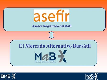 Asesor Registrado del MAB El Mercado Alternativo Bursátil 1.