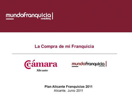 Plan Alicante Franquicias 2011
