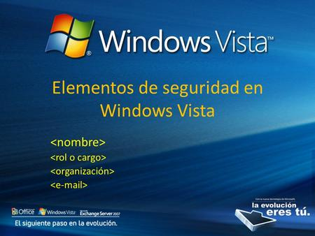 Elementos de seguridad en Windows Vista