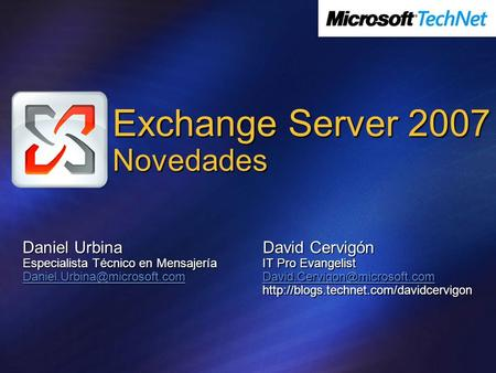 Exchange Server 2007 Novedades
