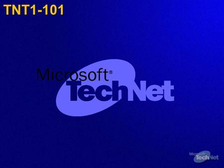 TNT1-101. Recuperación en caso de desastre de Microsoft Exchange Server 2003 Microsoft Corporation.