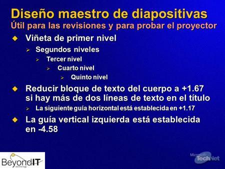 Tnt1 64 key message this is technet session tnt ppt descargar for Diseno de diapositivas