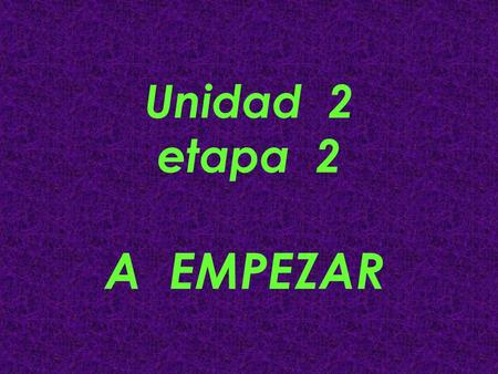 Unidad 2 etapa 2 A EMPEZAR. Vamos a Comer #1 You cant wait for lunchtime! Write the names of the food you want (use definite article): 1 2 3 4 5 6.