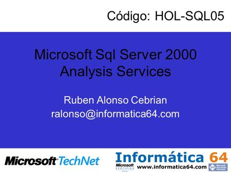 Microsoft Sql Server 2000 Analysis Services