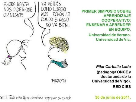 Universidad de Verano. Universidad de Vic. Pilar Carballo Lado