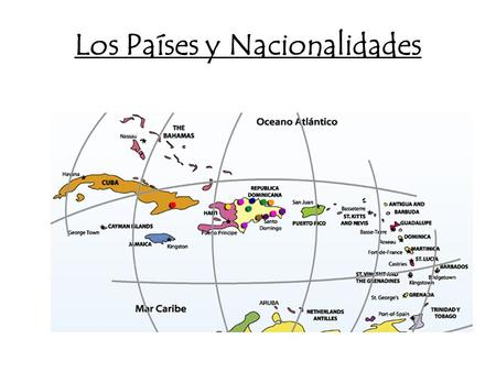 Los Países y Nacionalidades. Ser – to be Soy – I am Eres – you are Es – he/she is Somos – we are Son – they are.