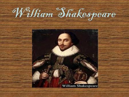 la presentaci 243 n quot william shakespeare 205 ndice biograf 237 a