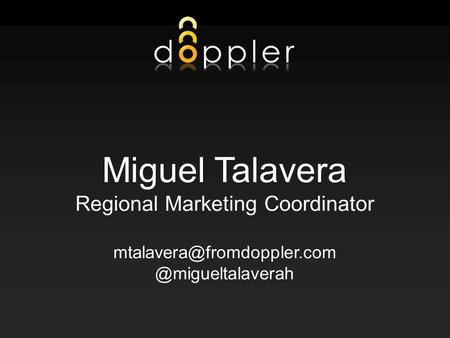 1 Miguel Talavera Regional Marketing