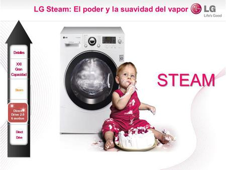 LG Steam: El poder y la suavidad del vapor STEAM Direct Drive 2.0 6 motion.