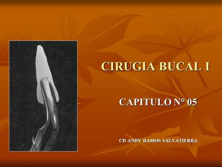 CIRUGIA BUCAL I CAPITULO N° 05 CD ANDY RAMOS SALVATIERRA.
