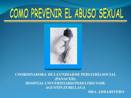 COMO PREVENIR EL ABUSO SEXUAL