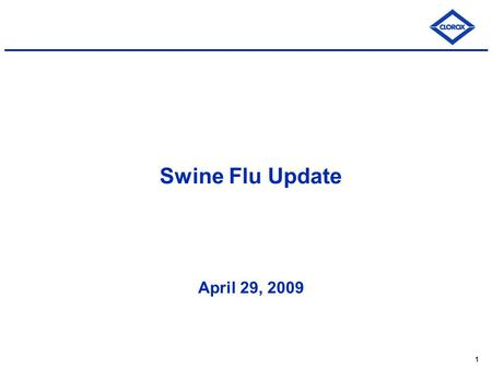 1 Swine Flu Update April 29, 2009. 2 Swine Flu: Background What is swine flu? Swine Influenza (swine flu) is a respiratory disease of pigs caused by type.
