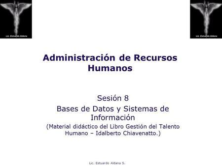 Idalberto chiavenato administracion de recursos humanos capitulo 1