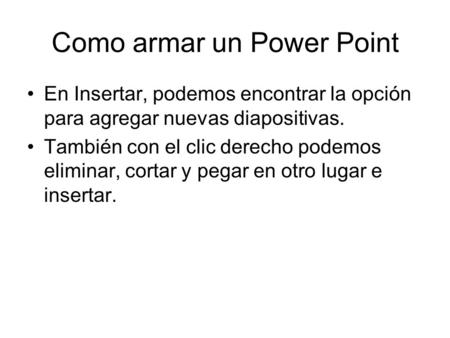 Como armar un Power Point