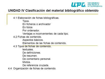 Tipos de fichas de investigacion bibliografica