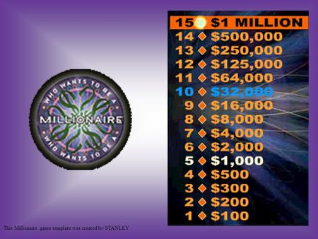 This Millionaire game template was created by STANLEY.