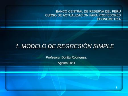 1. MODELO DE REGRESIÓN SIMPLE