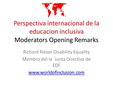 Richard Rieser Disability Equality