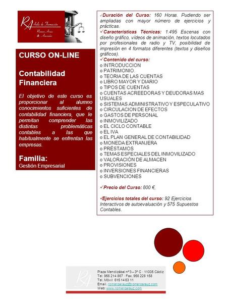 CURSO ON-LINE Contabilidad Financiera Familia:
