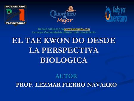 EL TAE KWON DO DESDE LA PERSPECTIVA BIOLOGICA