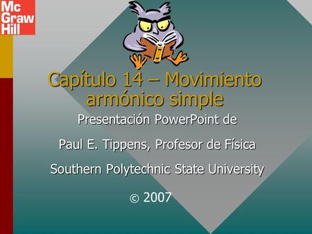 Capítulo 14 – Movimiento armónico simple