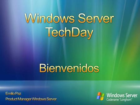 10:00 INTRODUCCIÓN (Microsoft, HP, Intel) 10:15 Windows Server para entornos Web DEMO: Escalabilidad con HP blades y Windows Server 2003 Internet Information.