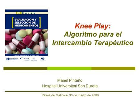 Knee Play: Algoritmo para el Intercambio Terapéutico