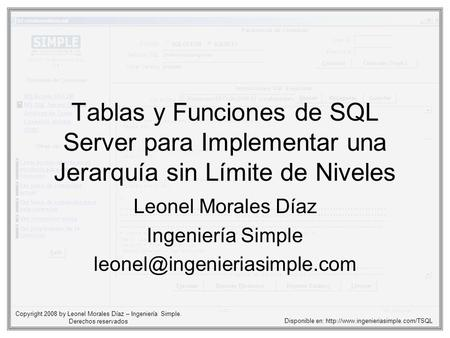 Leonel Morales Díaz Ingeniería Simple
