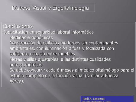 Distress Visual y Ergoftalmología
