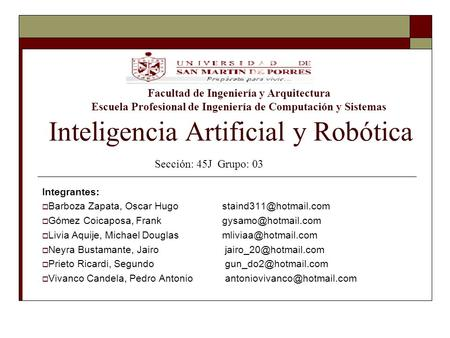 Inteligencia Artificial y Robótica