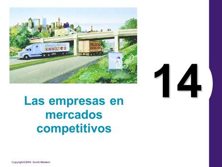 Copyright©2004 South-Western 14 Las empresas en mercados competitivos.