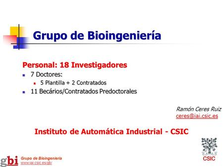 Instituto de Automática Industrial - CSIC