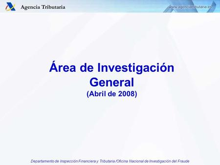 Departamento de inspeccion financiera y tributaria ppt for Oficina nacional de gestion tributaria