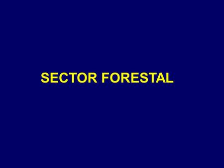 SECTOR FORESTAL.