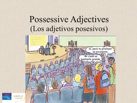 Possessive Adjectives (Los adjetivos posesivos). The possessive adjectives that are used with a masculine singular noun are as follows: mi tu su (my)