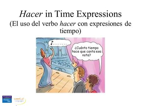 Hacer in Time Expressions