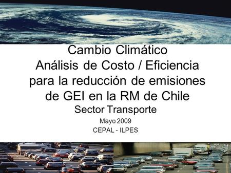 Sector Transporte Mayo 2009 CEPAL - ILPES