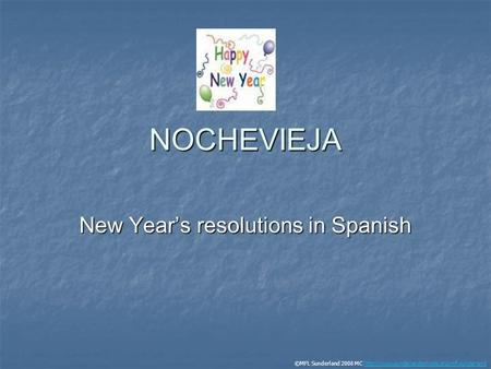 New Year's resolutions in Spanish