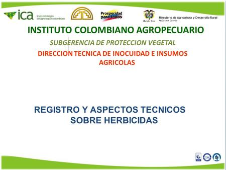 INSTITUTO COLOMBIANO AGROPECUARIO