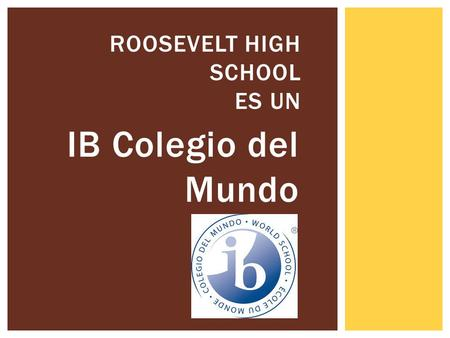 Roosevelt High School es un